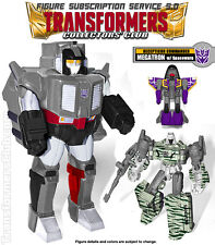 TFSS MEGATRON & SPACEWARP Transformers Subscription Collectors Club BRAND NEW