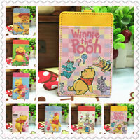 pooh bear PU card bag ID Holder Cash Credit ID bags Purses key chain