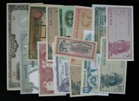 14 Different Mixed Foreign World Banknote Currency Paper Money Lot #251