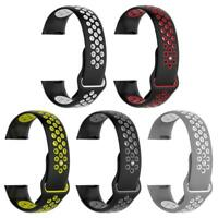 Silicone Porous Breathable Watch Band Bracelet Wrist Strap For Fitbit Charge 3