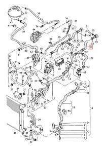 GENUINE OEM VW Passat  2006-2011 Variant 4Motion Coolant Hose 3C0121157AE