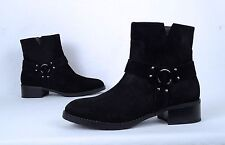 NEW!! Donald Pliner 'Bela' Harness Bootie- Black Suede- Size 7 M  $278  (BX5)