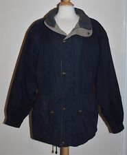 Croft & Barrow Men's Nice Winter Coat Zip Snap Front Size M Medium Navy Khaki