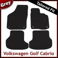 Volkswagen VW Golf Mk6 Cabriolet 2011-2016 Tailored Carpet Car Mats GREY