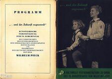 La manifestazione culturale fisso al 75. compleanno di Wilhelm Pieck DDR 1951