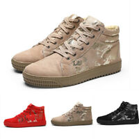 Mens Flat Outdoor High Top Casual Sports Lace Up Athletic Trainers Shoes Sneaker