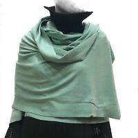 Cashmere Company Sciarpa Donna Verde Scialle Coprispalle Lana Cashmere Stola