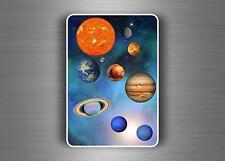 Set sticker aufkleber kind kinder scrapbooking Sonnensystem wandaufkleber planet