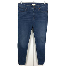 """Madewell 9"""" Inch Mid-Rise Blue Skinny Jeans Women's Size 32 - Blue"""