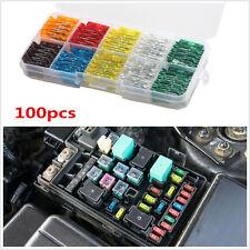 100Pcs Assorted Car Truck Mini Low Profile Fuse Box 5 7.5 10 15 20 25 30 A AMP