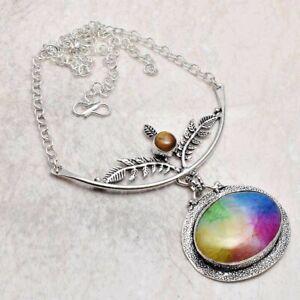 Rainbow Solar Quartz Tiger EyeHandmade Necklace Jewelry 25 Gms AN 95536