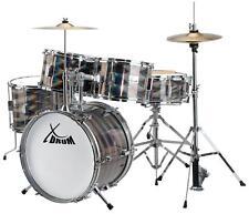 """Komplett 16"""" Kinder Schlagzeug Beginner Drum Set Trommel Becken Sticks Lern DVD"""