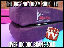 240cm Gymnastic Gym Folding Balance Beam by Slim-gym 'purple' Faux Suede