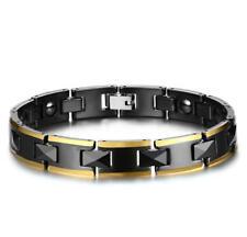 "Men Black Ceramic Bracelet Magnets Chain Bangle Birthday Wedding Anniversary 8"""