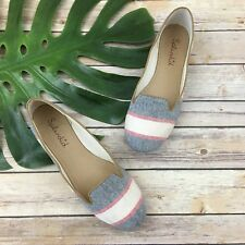 Splendid Cannes Loafer Flats Size 9.5 Blue Red Stripes Slip On Nautical Casual