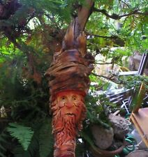 Wood spirit carving sculpture wizard green man troll art dwarf  ooak by Gary