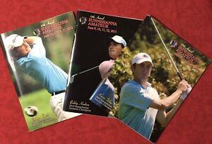Lot of 3 Sunnehanna Amateur Golf Tournament Programs 2010 2011 2102 Johnstown PA