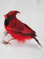 Red Cardinal Life Size Artificial Bird Perched 9 inch per each