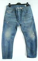 Diesel BNWT RRP 138 Blue Comfort-Carrot Rip Imitations Denim Jeans Size W30 L30