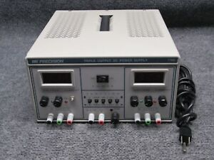 BK Precision Model 1760 Triple Output DC Power Supply Voltage Meter *Tested*