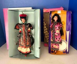 Mattel Barbie CHINESE EMPRESS and CHINESE Barbie DOW, 2 Doll Set, MINT w/Box!