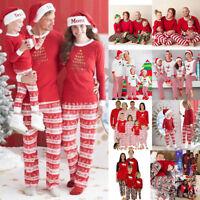 Cadeau Noël Famille Assorties Pyjama Ensemble Vêtements de Nuit