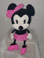 Minnie Mouse Plush Pink Skirt Pink Bow Hallmark Shelf Sitter Dangling Legs