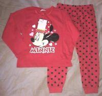 pyjama coton  neuf etiqueté disney minnie taille 2-3  ans rouge