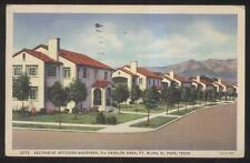 POSTCARD~EL PASO TEXAS TX~FORT BLISS 7TH CALVARY OFFICERS QUARTERS HOMES~30'S