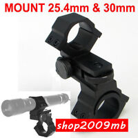 Laser Sight Rifle Scope Mount 25.4mm 30mm Diameter Adjustable Elevation Windage