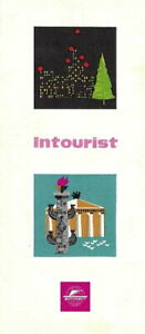 MK-037 USSR Intourist Basic Brochure Leaflet Early 1960's Vintage
