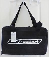 Vintage REEBOK Soft Sided Duffle Bag Gym Athletic Bag, Black White, NWT