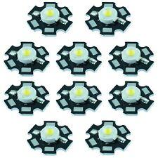 10 x White 3W High Power Star PCB LED 200lm
