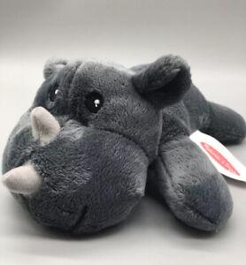 "Melissa & Doug Gray Smiling Hippo Rhinoceros Stuffed Animal Plush 9"""