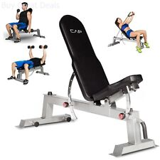 Adjustable Utility Bench Weight Dumbells Flat Incline Workout Exercise Fitness