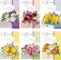 100 Glückwunschkarten zum Geburtstag Blumen 1895 Geburtstagskarte Grußkarte
