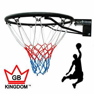 Kingdom GB SlamDunk Wall Mounted Basketball Hoop Ring & Net Official Size