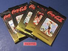 1995 COCA COLA 4 TRADING CARDS LOT OF (5) UNOPENED PACKS