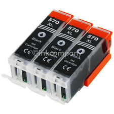 3x TINTE PATRONEN für den PGI 570 XL PIXMA MG5700 MG5750 MG6850 MG7750 MG7751