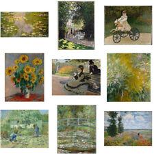 Cartel De Pintura De Lona 1pc Monet plantas Salón Dormitorio Hogar Arte Pared Decoración