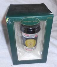 Inspirations Coffee Cappuchino Cup with Lid Christmas Holiday Ornament New