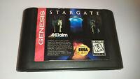 Genuine Stargate Sega Genesis Game Cart *1994*  *NTSC-U*