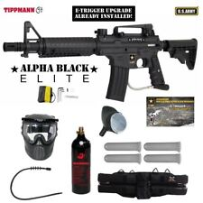 Tippmann US Army Alpha Elite Tactical E-Grip Silver Paintball Gun Package