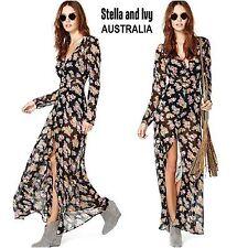 Womens Gypsy Boho Dress Maxi Floral Size 10 NEW