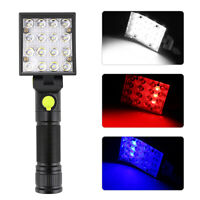 16 LEDs Light Magnet USB Rechargeable Work Light Torch Flashlight Lamp 18650