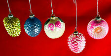 Vintage Antique Glass Christmas Ornaments Assorted Feather-lite Dimples