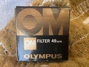 Olympus OM System Filter 49mm A4 (81C) Japan W/ Box & Case - VINTAGE