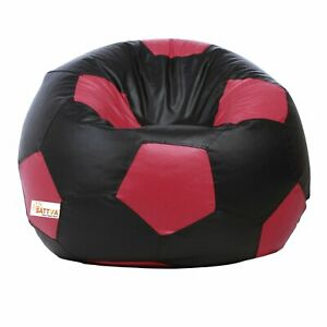 Bean bag Leather Football Relaxing Bean Bag Cover Black for luxuries Living room