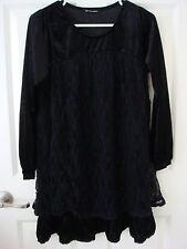 Japan Black Velvet Lace Dress