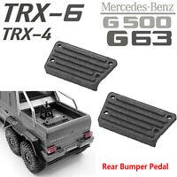 2Pcs Rear Bumper Pedal Pour Traxxas TRX-4 TRX6 Benz 4X4 6X6 G63 G500 RC Crawler